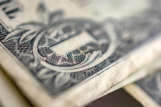 united states dollar bill detail corner stock photo