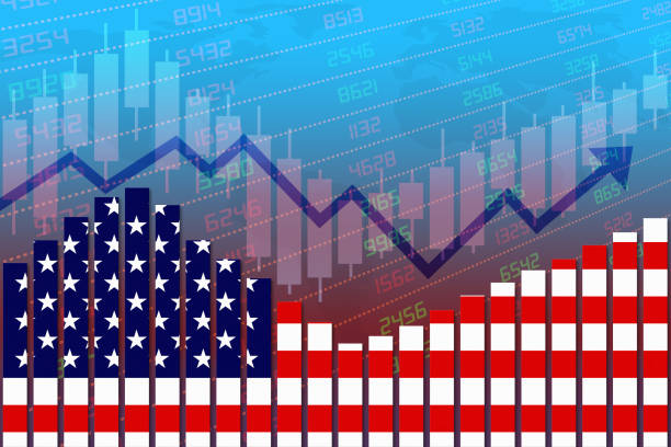 United States Economy Improves and Returns to Normal After Crisis stock photo