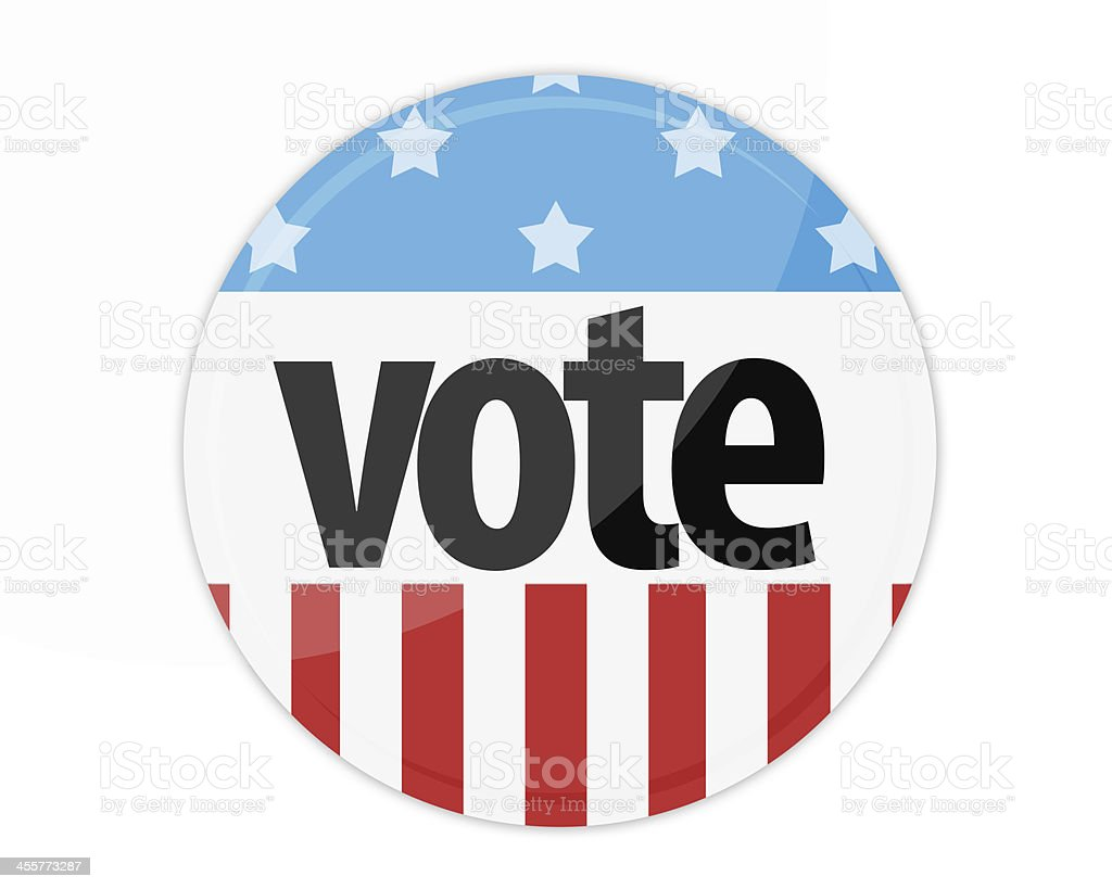 United States Election Vote Button royalty-free stock photo
