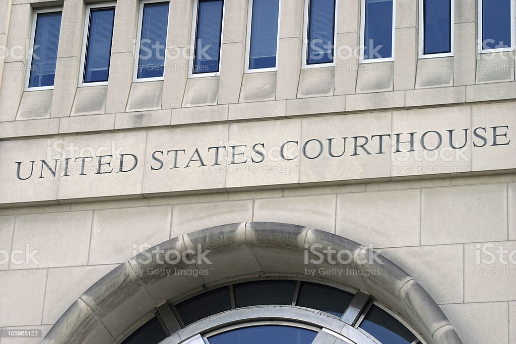 United States federal courthouse stock photo