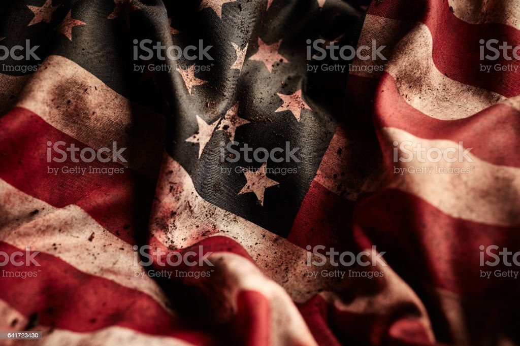 United states flag background stock photo