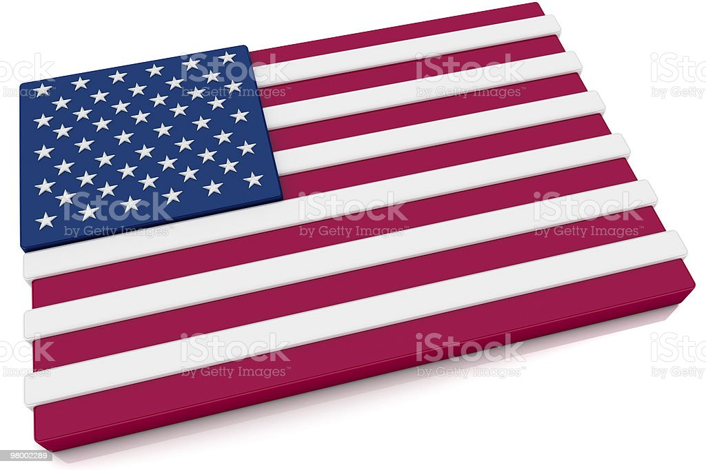 3D United States Flag Button royalty-free stock photo