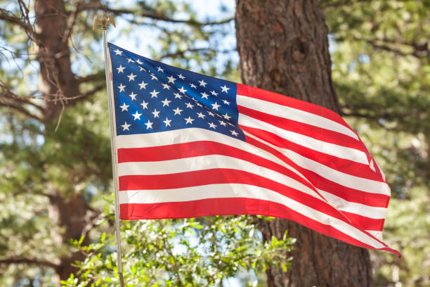 United States Flag for celebrating 4th of July, Labour Day or Memorial Day stock photo