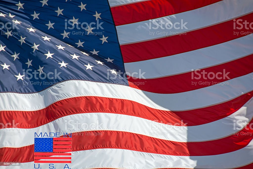 United States flag with symbol- Made in USA