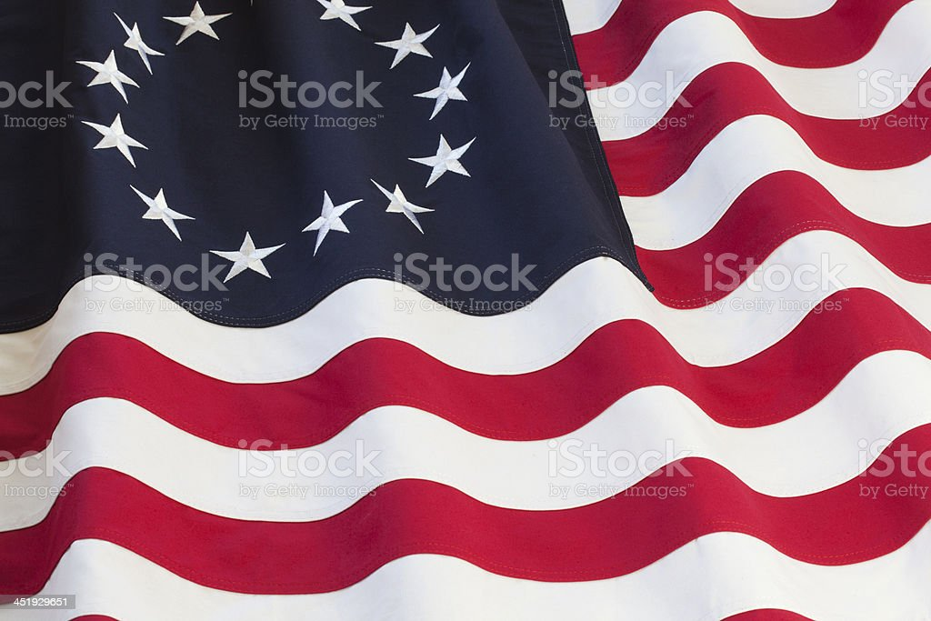 United States flag with thirteen stars royalty-free stock photo