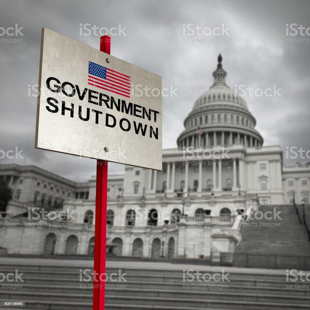 United States Government Shutdown stock photo