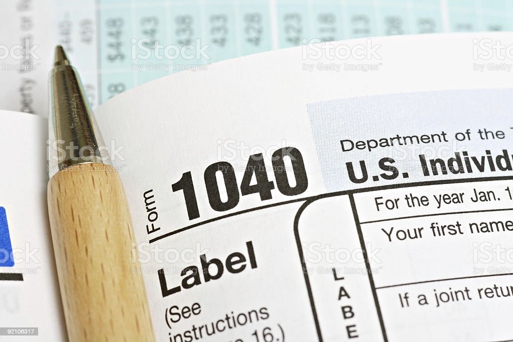 United States Income Tax Form 1040 royalty-free stock photo