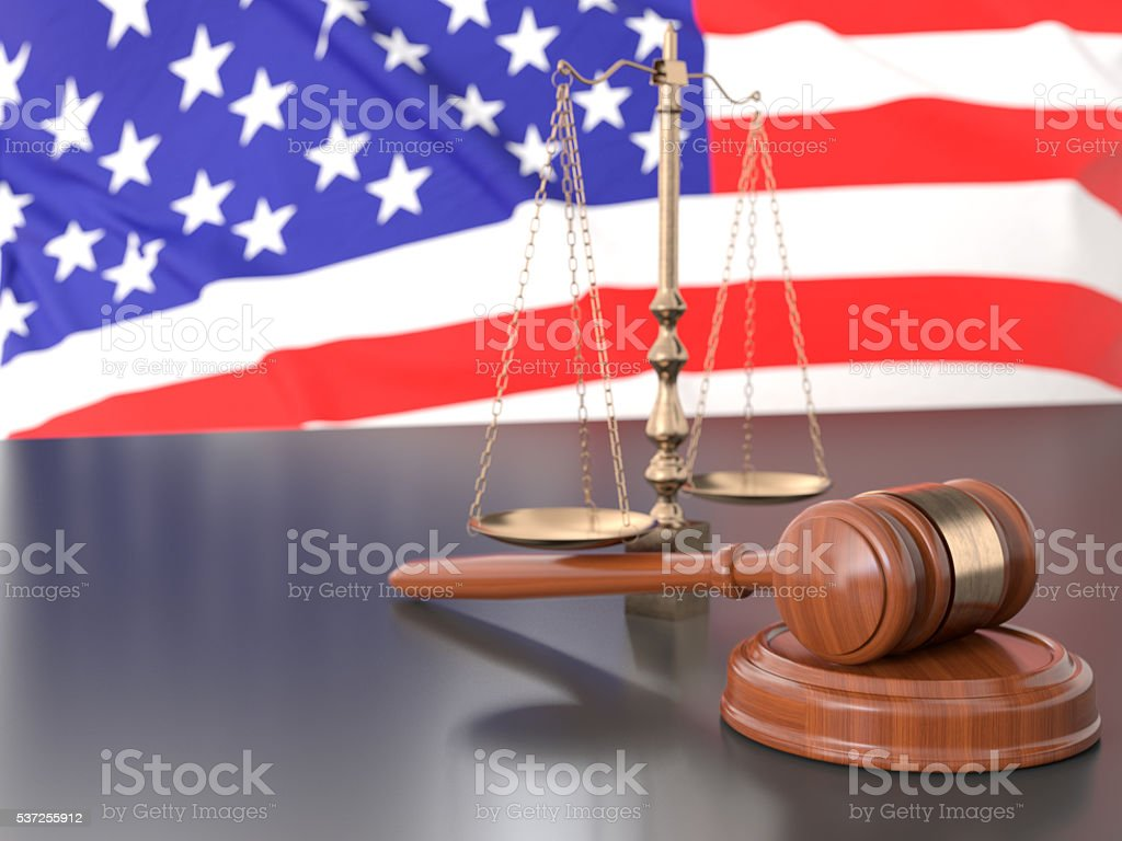 United States Justice stock photo