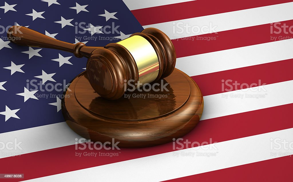 United States Law And US Justice Concept stock photo
