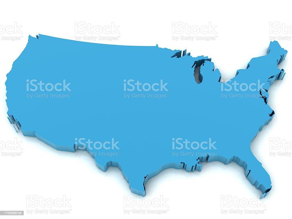 United States map stock photo