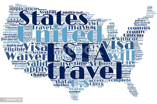 United States map word cloud on the isolated background