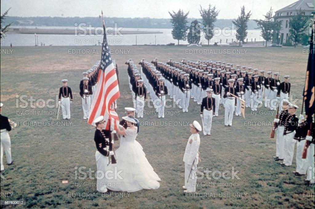 United States Marine Corps, Ceremony, 1965 stock photo