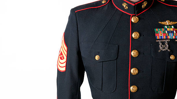united states marine corps dress blues uniform - uniform stock photos and pictures