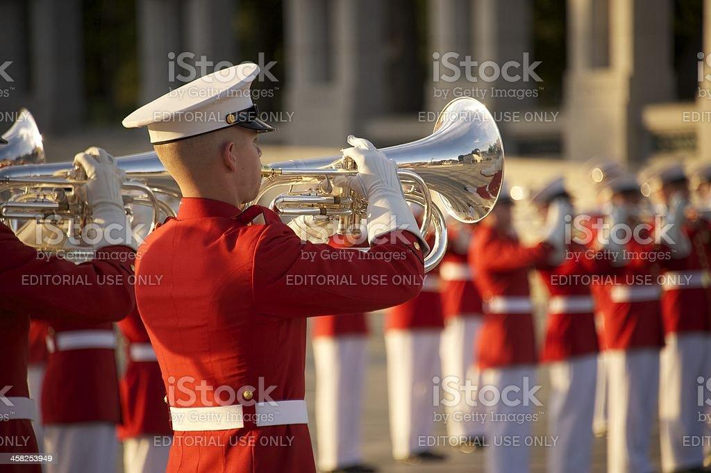 United States Marine Drum and Bugle Corps royalty-free stock photo