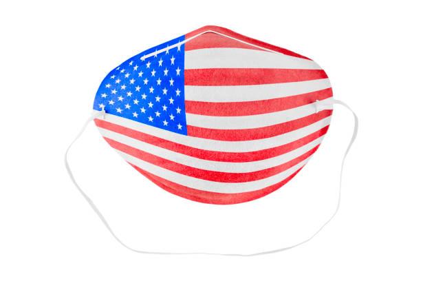 United States medical mask stock photo