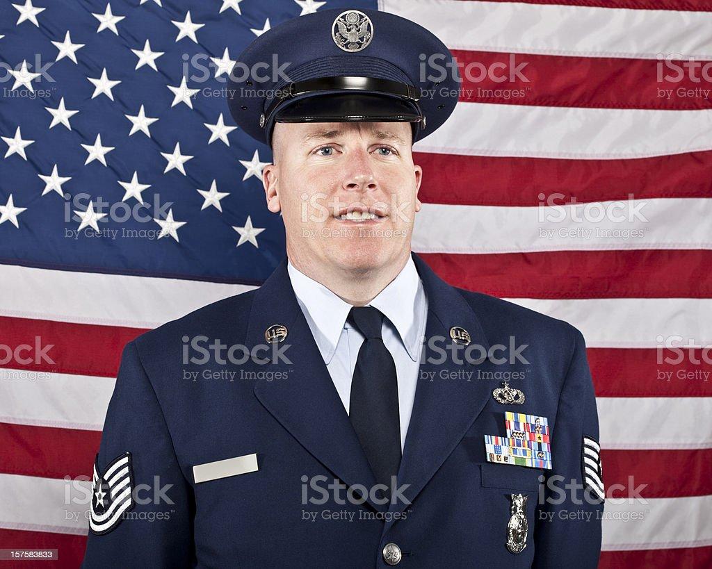 United States military man royalty-free stock photo