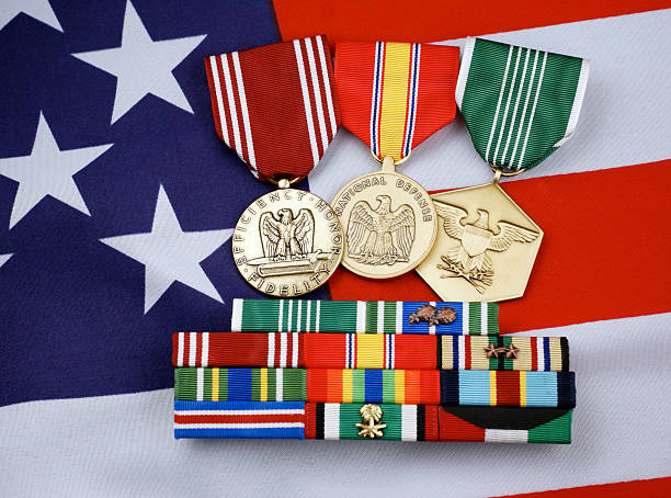 United States Military Medals and Ribbons stock photo