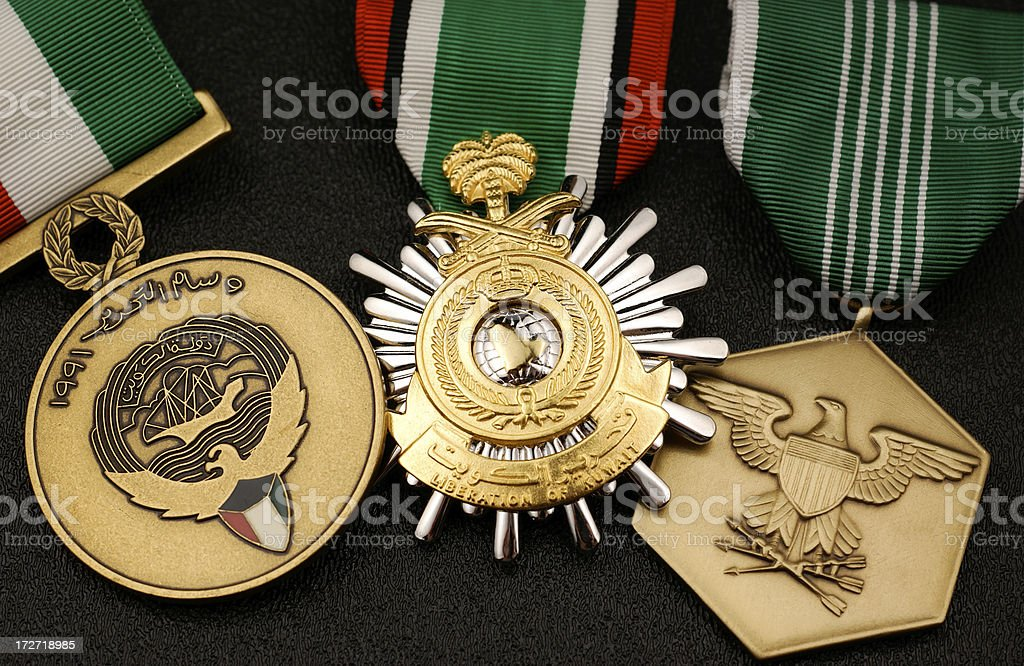 United States Military Medals for the Gulf War royalty-free stock photo