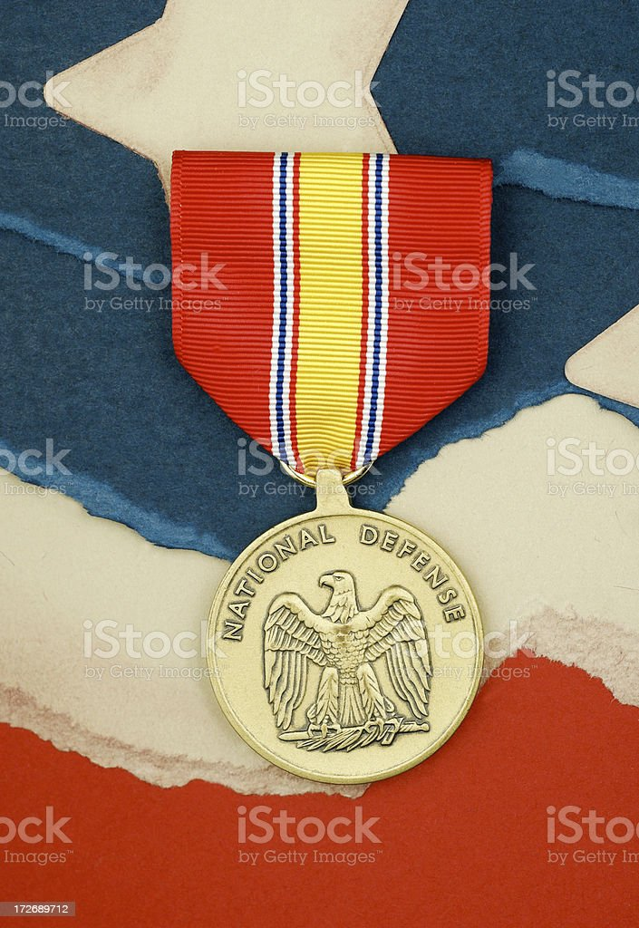 United States Military National Defense Medal awarded to military...