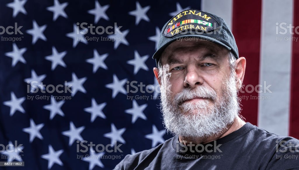 Vereinigte Staaten Marine authentisches Vietnam militärische Kriegsveteran – Foto