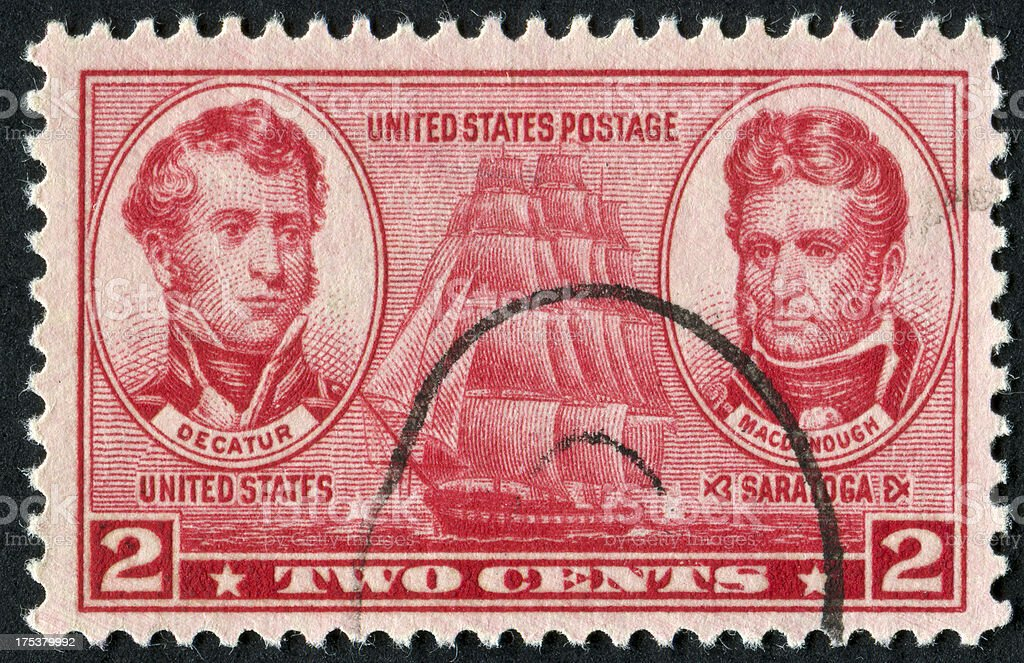 United States Navy Stamp royalty-free stock photo