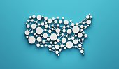 istock USA United States Network Map. 3D Rendering Illustration Graphic Design 1225880569