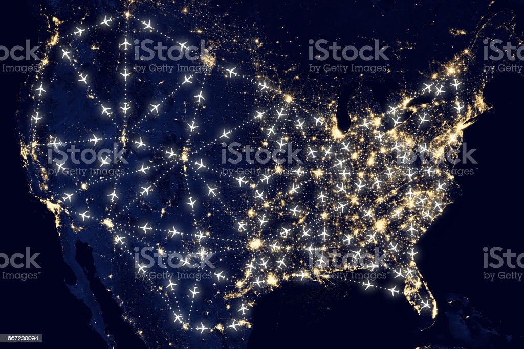 USA United States of America air traffic stock photo