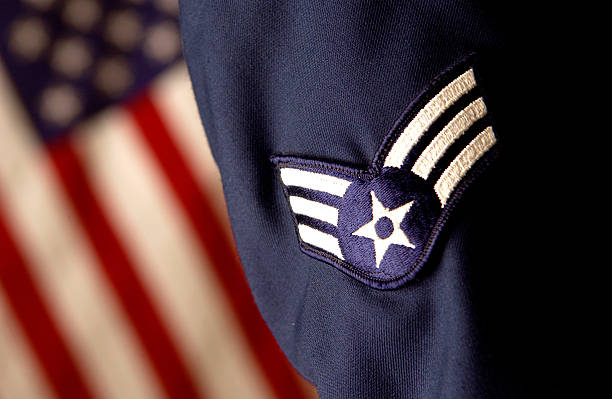 United States of America armed forces close up of armed forces uniform air force stock pictures, royalty-free photos & images