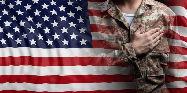 United states of america flag and soldier with hand on his heart 3d picture id1061767786?b=1&k=6&m=1061767786&s=612x612&w=0&h=sdo0whsutqv0euyrwoiejvsy19qulctxqvtqarm6msg=