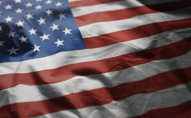 united states of america flag rumpled close up - american flag stock pictures, royalty-free photos & images