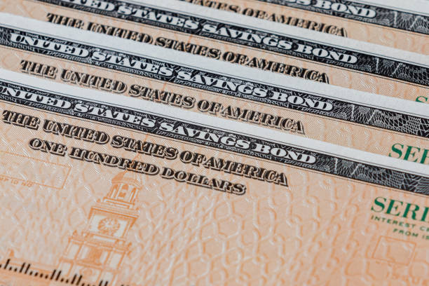 United States of America government savings bond series EE stock photo