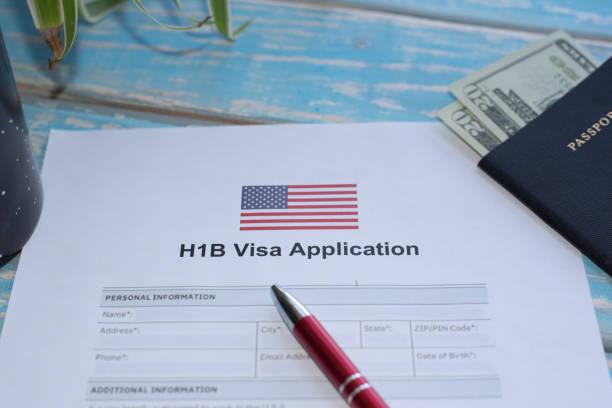 United States of America H1B visa application stock photo