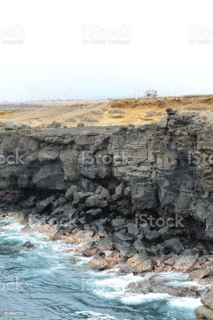 United States of America Hawaii Island South Point Claimants stock photo