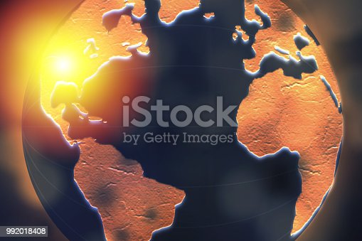 istock United States of America highlighted on dark globe for internet connection and worldwide connection concept. 992018408