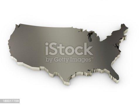 186827106istockphoto United States of America Map 185017709