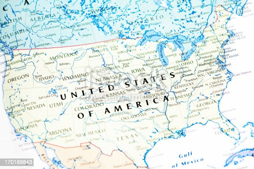 520945644 istock photo United States Of America USA Map 170169843
