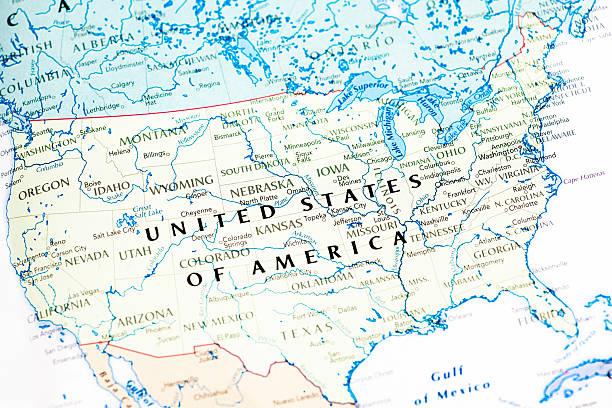 vereinigte staaten von amerika, usa-karte - karten de stock-fotos und bilder