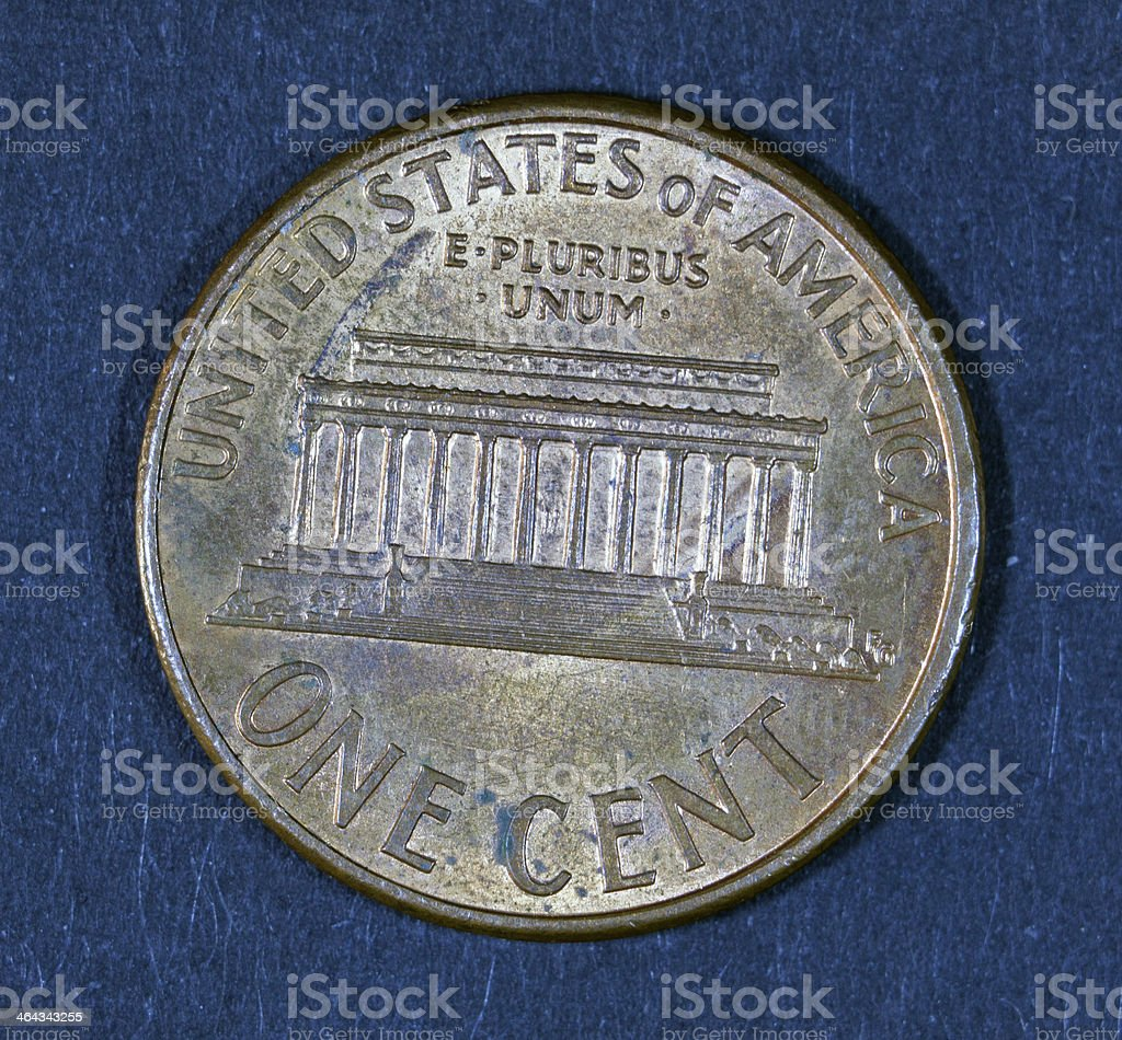 United states of amerika coin. stock photo