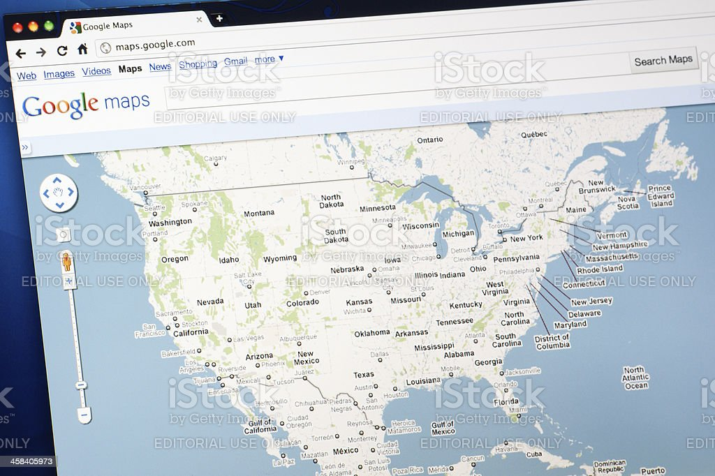 United States On Google Maps Stock Photo Download Image Now Istock