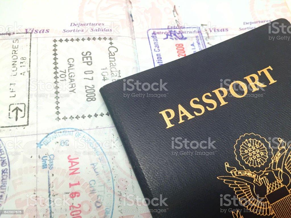 米国のパスポート ストックフォト