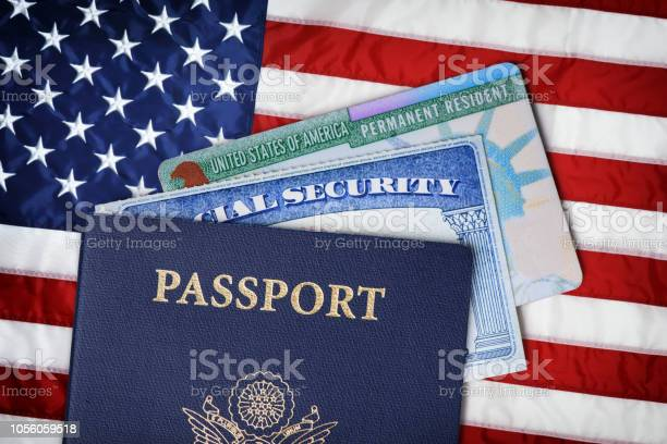 United states passport social security card and resident card over picture id1056059518?b=1&k=6&m=1056059518&s=612x612&h=jqzdjrcdfkjwdozef0pafsyb2hnavaw76ljhso1t2fc=