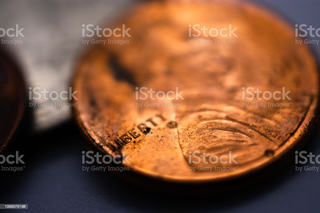 United States penny coin one cent stock photo