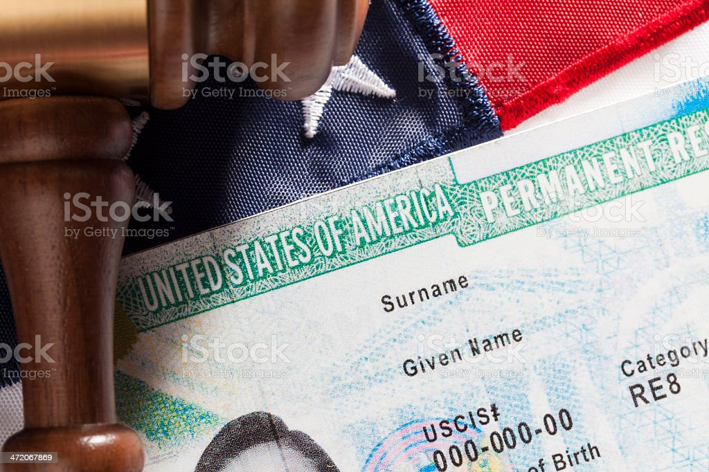 United States Permanent Resident stock photo