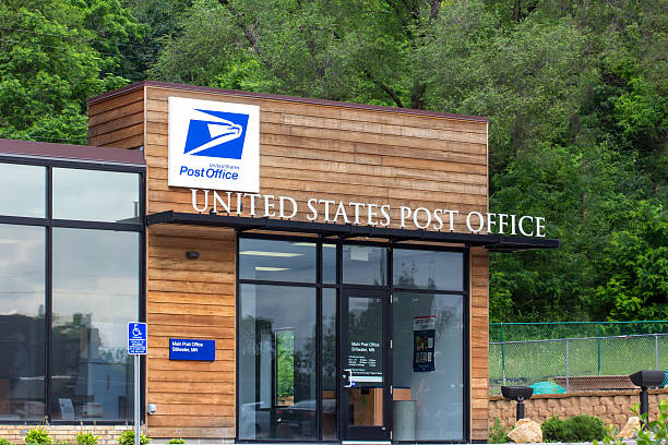 United States Post Office Building stock photo