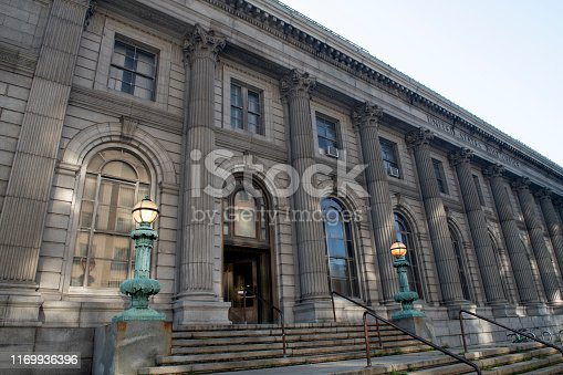 United States Post Office in downtown Jersey City, New Jersey, USA