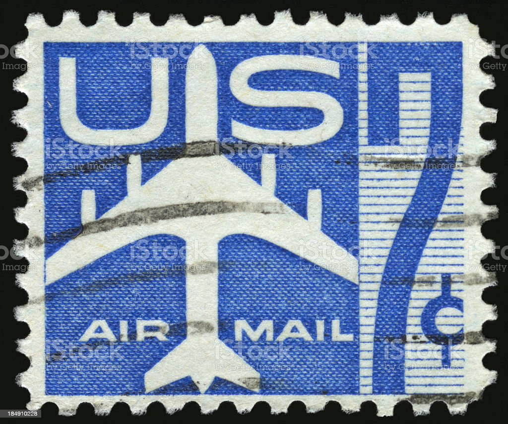 United States Postage Stamp royalty-free stock photo