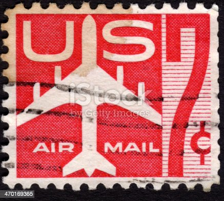 istock United States postage stamp used for airmail deliveries overseas 470169365