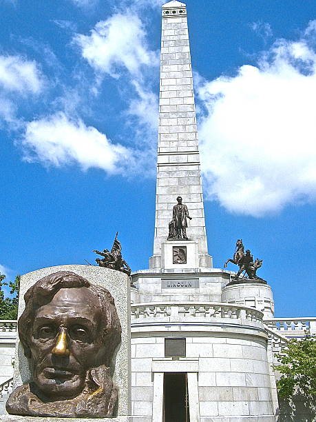 United States President Abraham Lincoln Tomb, Springfield IL stock photo