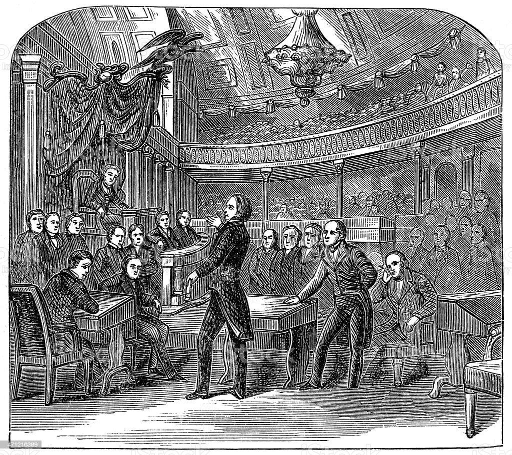United States Senate stock photo