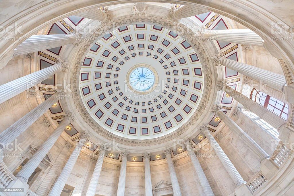 United States Senate Russell Office Building Rotunda Ceiling stock photo
